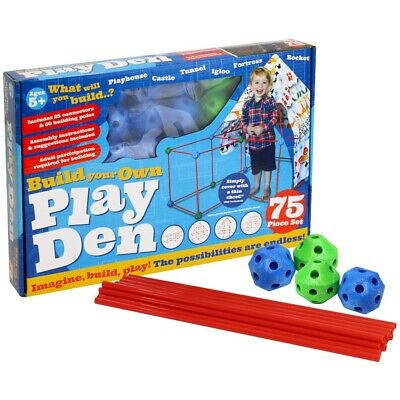Build Your Own Den - 75 Piece Kit, Toys & Games, Brand New