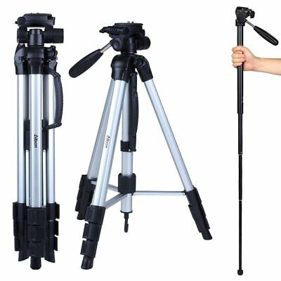 Professional Heavy Duty Video Camera Tripod with Fluid Head Kit 70 Inch with Cas