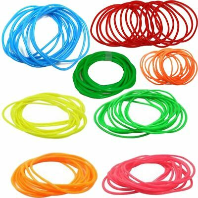 Women Gummy Bangles Neon Colours Ladies Bracelets Wristbands Shag Band Accessory