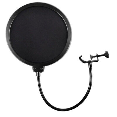 Dual Layer Flexible Microphone Wind Screen Pop Filter Mask Shied For Record