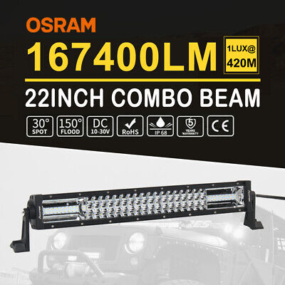 """22inch Curved Osram LED Light Bar Combo Beam Tri Row Work Driving Lamp 4WD 23"""""""