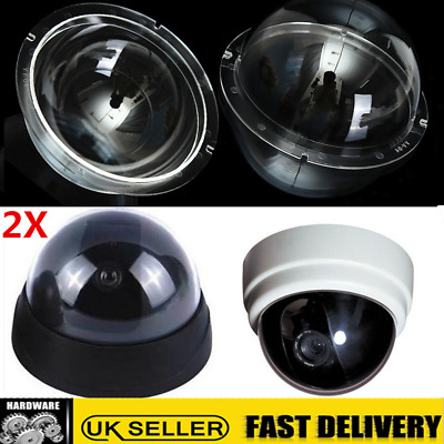 UK 2X 4'' Camera Security Dome Cover CCTV Clear Acrylic Monitoring Replacement