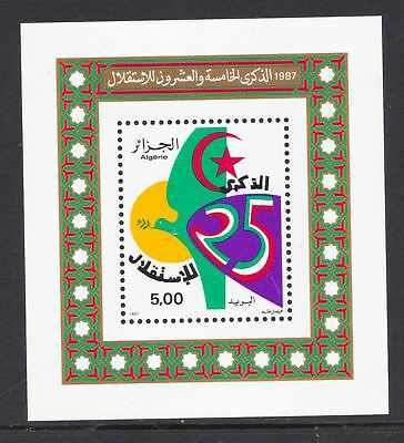 Algeria 1987 Anniversary of Independence - MNH Miniature Sheet - (424)