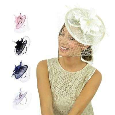 Headband Aliceband Hat Large Fascinator Weddings Ladies Day Race Royal Ascot