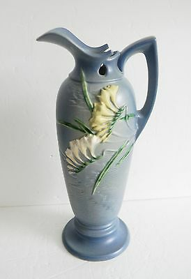 Roseville art pottery Freesia tall ewer or pitcher - FREE SHIPPING