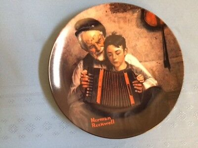 Norman Rockwell: The Music Maker Plate, Edwin M. Knowles China Company