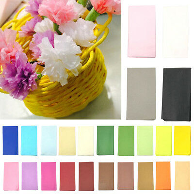 10pcs 50x50cm Tissue Paper Sheets Acid Free Luxury Plain Gift Wrapping Craft