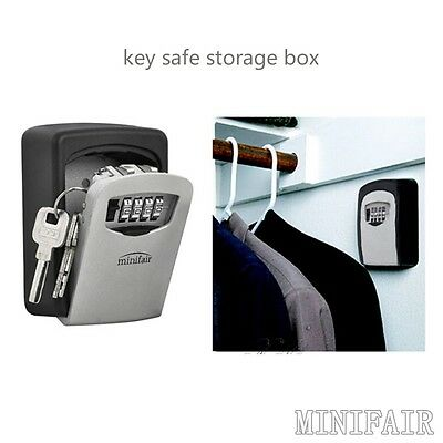 High Security Wall Mounted Key Safe Box Secure Lock Combination Outside Out Door
