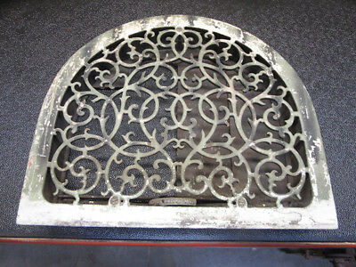 Antique Vintage Cast Iron Arch Dome Top Wall Grate Heat Register Vent 17 X 15