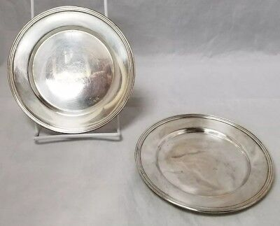 """Vintage Federal Silverplate on Copper Plates, Set of 2, 6"""" Plate, Silver Plate"""