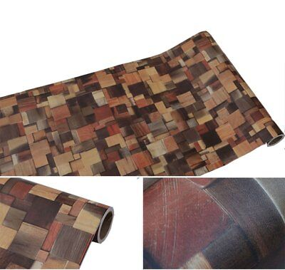 Log Cabin Wallpaper Rustic Wood Brick Contact Paper Self Adhesive Shelf Liner