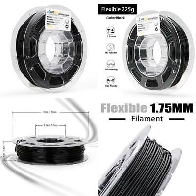 AMOLEN 3D Printer Filament, 1.75mm Black Flexible TPU Filament +/- 0.03 mm, 0.5