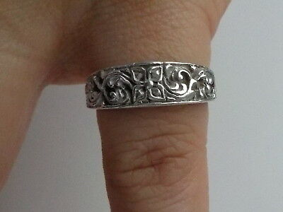 Silver Floral Ring Metal Detecting Find