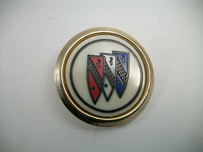 Buick GM Crest Shield Logo Hood Button Emblem Badge Collectors Pin Used