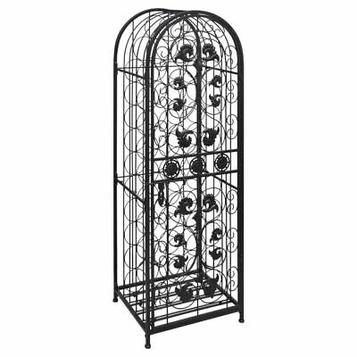 Metal Wine Cabinet Rack for 45 Bottles