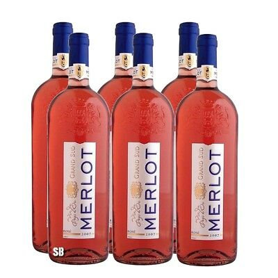 Grand Sud Merlot Rose Flasche 12,5% vol 6 x 100cl / 600cl