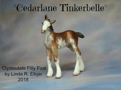 Custom CM Peter Stone Horse Chips Clydesdale Filly Foal x L. Elkjer**WOW**