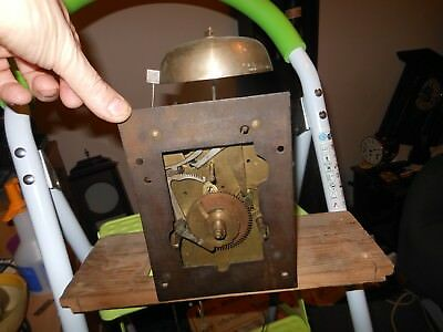 Long Case Clock 8 Day Movement and Seat board With Bell, Weights and Pendulum.