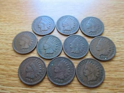 Indian Head penny ten coin Lot.  lot #156.
