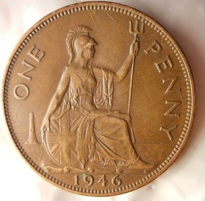 1946 GREAT BRITAIN PENNY - Excellent Collectible - FREE SHIP - Britain Bin H
