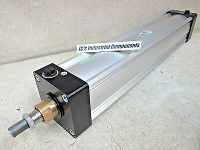 Parker,  Pneumatic Cylinder,  100 Mm Bore  X  530 Mm Stroke,  Extruded Body, P1D