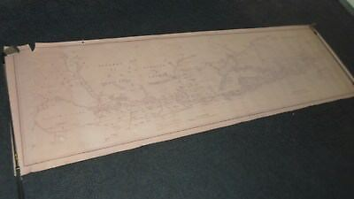Very Large 8ft Long Rolled Map Egba Territory Africa