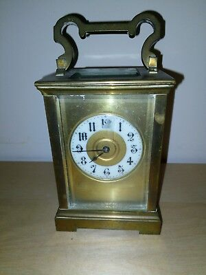 Antique Bronze Ansonia Carriage Clock, Working With Embossed Decorative
