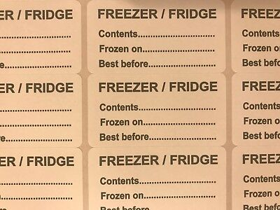 Food Freezer Labels stickers for meat, fish, fruit & Veg