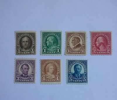 USA 1922 - 1925 mint stamps