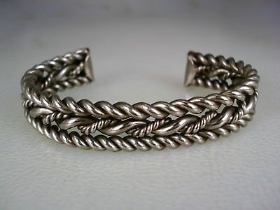 Old Navajo Sterling Silver Twisted Multi-Wire Bracelet
