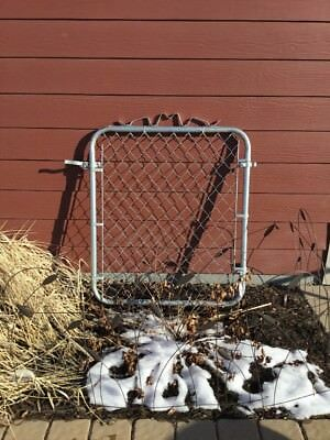 Vintage Chain Link Gate with a Decorative Topper - Yard Garden Kennel Fence Door