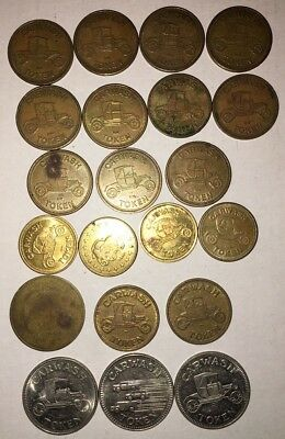 Lot of 21 Mixed Vintage Car Wash Tokens RYKO Gorilla Systems Inc