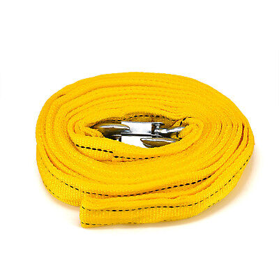 New 5Tons Car Truck Tow Cable Towing Strap Rope 2Hooks Heavy Duty 20FT 18,000LB