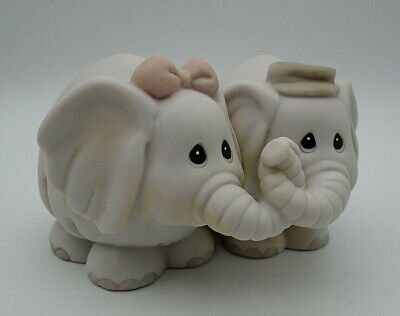 Vintage The Enesco Precious Moments Collection Elephants Figurine 1992 #530131