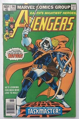 AVENGERS #196 Taskmaster 1st appearance Marvel comics Key issue 1980