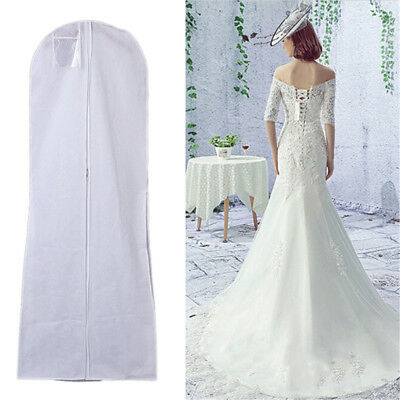 Excellent Long Weddings Dess Dust Evening Dress Dust Cover BridalGarment BagSN
