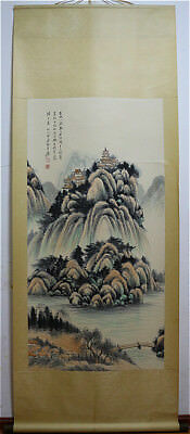 Excellent Chinese 100% Hand Painting & Scroll Landscape By Zhang Daqian 张大千 ZZ89