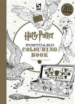**NEU** Harry Potter Postcard Colouring Book - 20 Postenkarten zum Ausmalen für