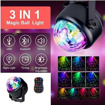 Disco Ball Party Lights DJ Strobe Lights 7Modes RBG Led Lamp with Remote Control