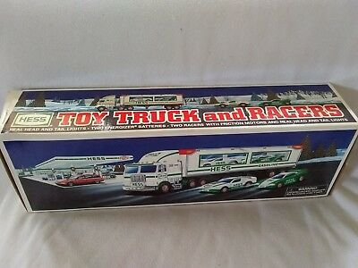 1997, Hess, Toy Truck And Racers, New In Box, Free Shipping!