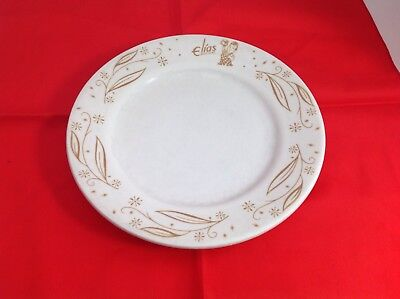 Old Elias Bros. Big Boy Restaurants Heavy China  9 Inch Dinner Plate, 1970'S,