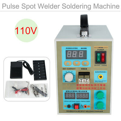 LED Dual Double-Pulse Spot Welder Battery Charger 800A 0.1-0.2 mm 110V【US STOCK】