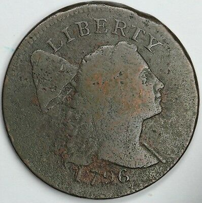 1796 1c Liberty Cap S-81 Large Cent UNSLABBED