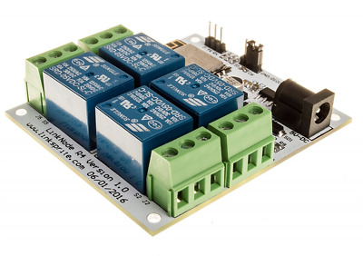 LinkNode R4: WiFi relay controller 4-Channel Relay Module