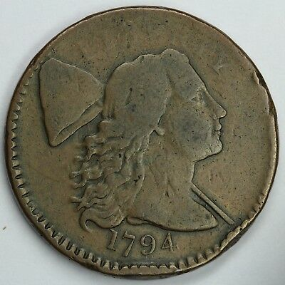 1794 1c Lettered Edge Liberty Cap UNSLABBED