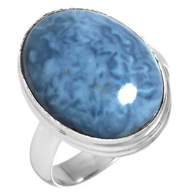 Solid 925 Sterling Silver Natural Owyhee Opal Handmade Ring Size 7.5 ku03800