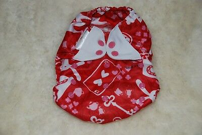 VGUC Flip by Bumgenius One Size Diaper Cover Carroll Red White Snaps HTF