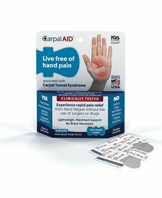 1 X Carpal AID: Large: 6 patches: Pain relief Hand Patch: Carpal Tunnel: FDA