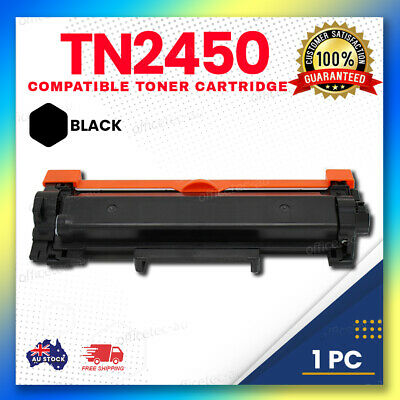 1x Toner Cartridge TN2450 NO-CHIP for Brother MFC-L2710DW MFC-L2713DW HLL2350DW