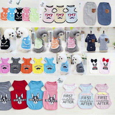 2018 New Dog Cat Pet Clothes Summer Pet Vest Puppy Various T-Shirt Apparel Dress